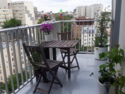 Chbre dans grand appart T3 de +70 m2 avec terrasse, Paris 20